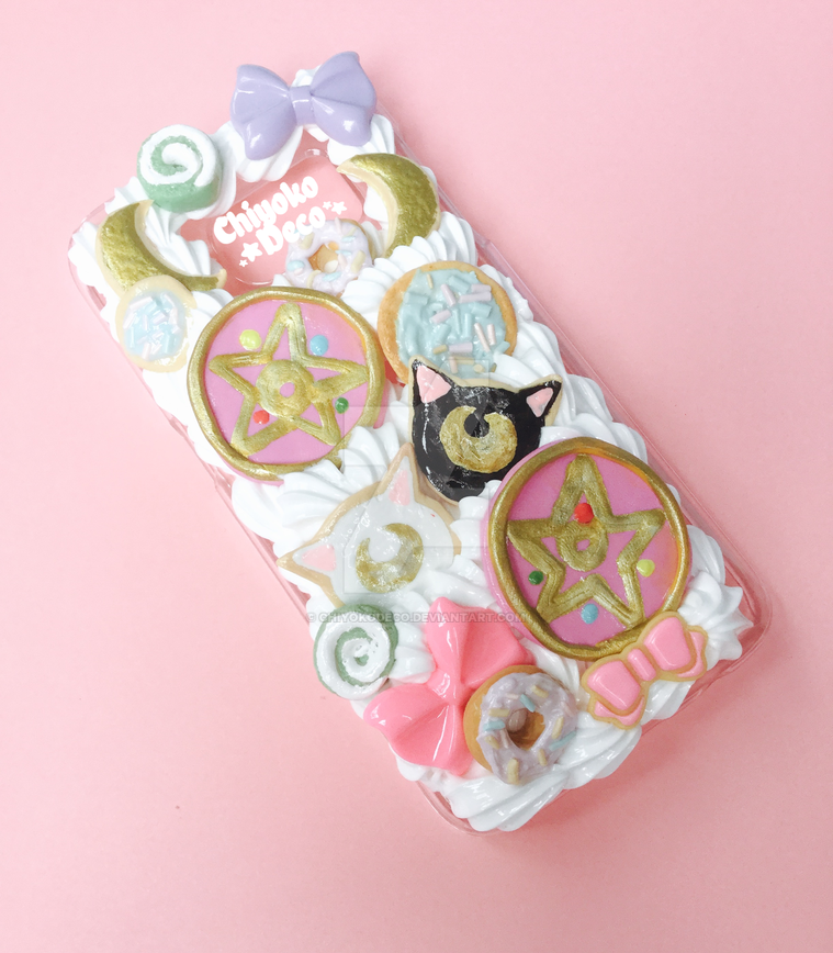 huge selection of f4cf9 10693 Sailor Moon Luna and Artemis Decoden phone case by ChiyokoDeco on ...