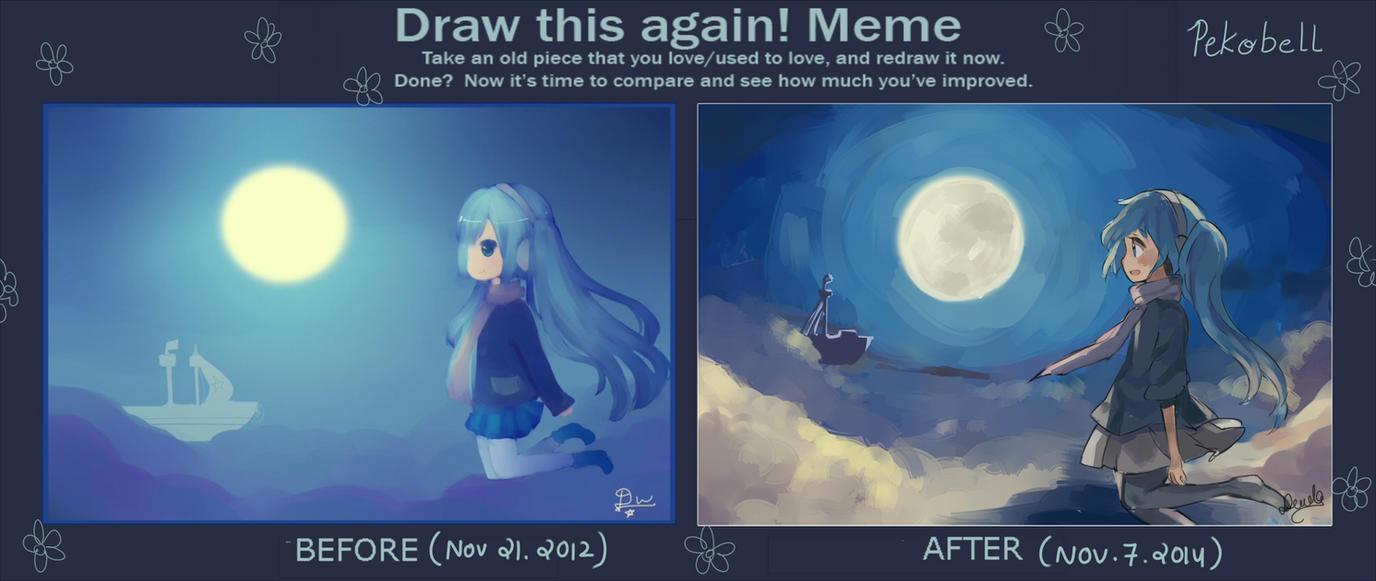 Draw this again ! by Pekobell