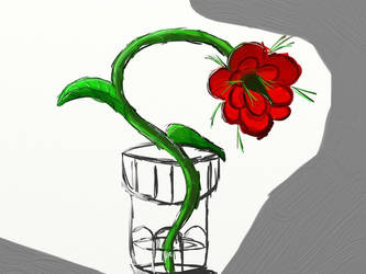 The Flowe In The Glass