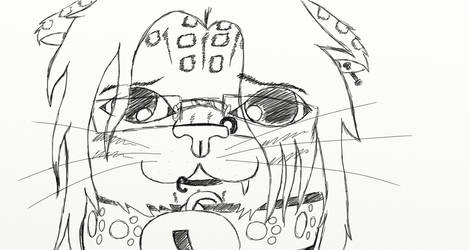 Sad Bad Cat