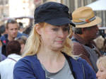a blonde in the market