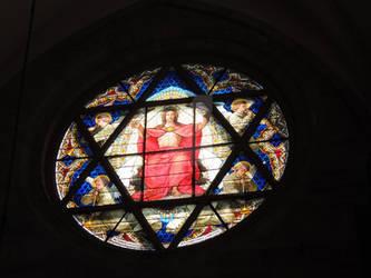 star of david in a church