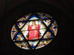star of david in a church