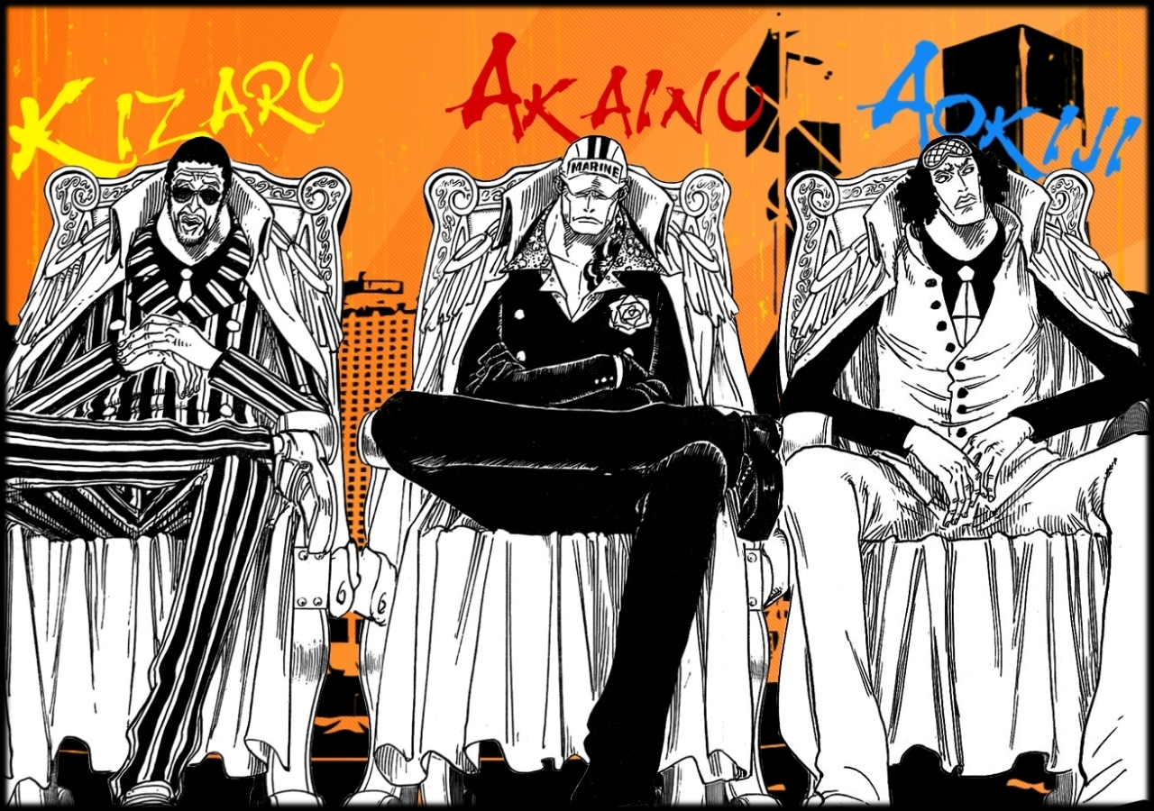 One Piece Admirals Wallpaper By Juengling On Deviantart