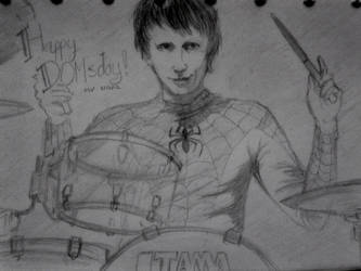 Happy Birthday Dominic Howard! by Elvin-Hazel