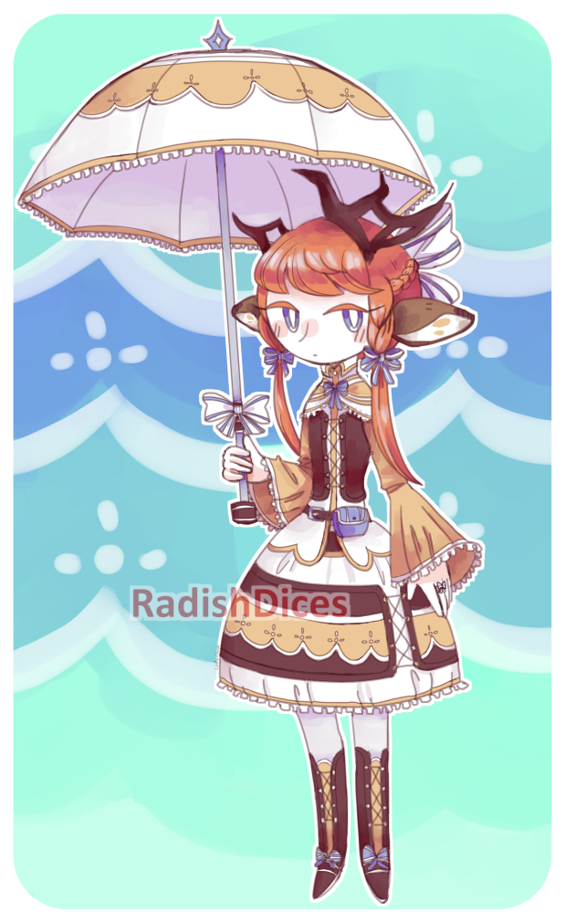 [OPEN] Lolita Deer Kemonomimi by radishdices-adopts