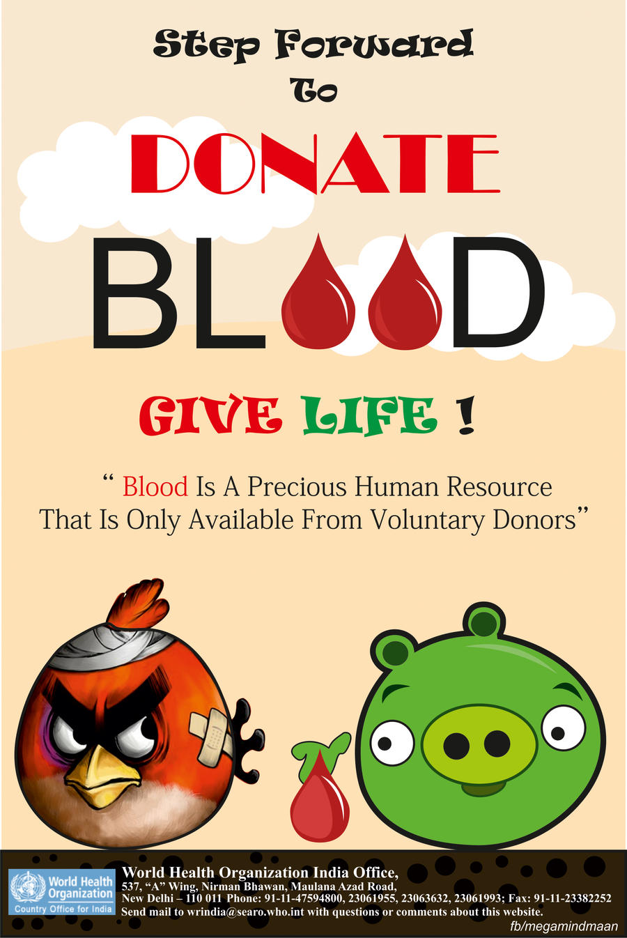 poster on blood donation by megamindmaan on deviantart