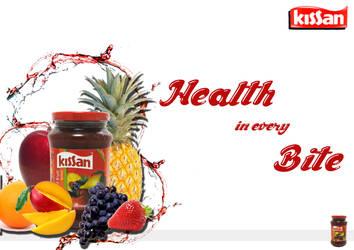 Product Ad Designing ~Kissan Jam~ by megamindmaan