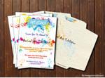 Invitation Card Design ~Art Attack~