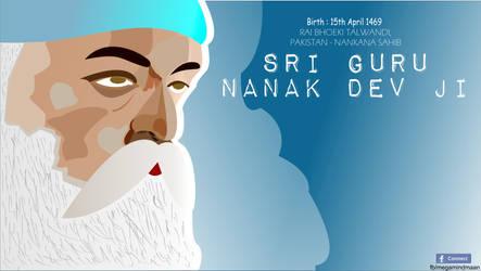 Low Res Vector Art  ~Guru Nanak Dev Ji~ by megamindmaan