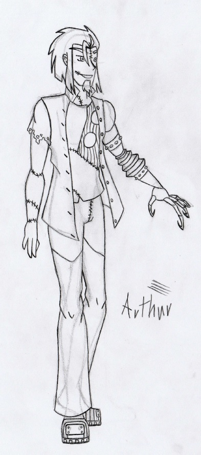 New Halloween Town - Arthur the Frankenstein WIP by REDDISH-MUSE