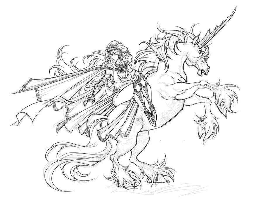 Love Goddess Unicorn Sketch By Skullbabyland On DeviantArt