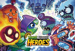 Plants vs. Zombies: Heroes splash screen by skullbabyland