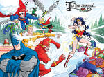 Art for DC Comics' Holiday Card by skullbabyland