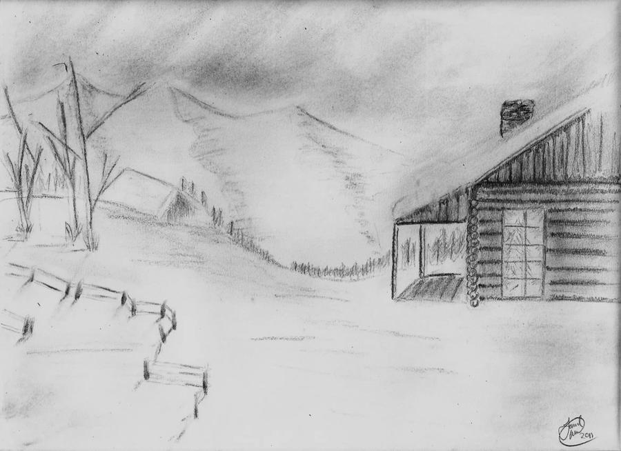 winter scene by skechs on deviantart