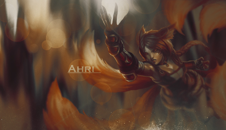Ahri - Forum - Signature by AmarokDota