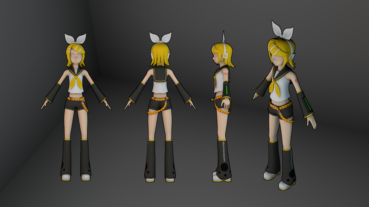 Rin model - textured by MrSide