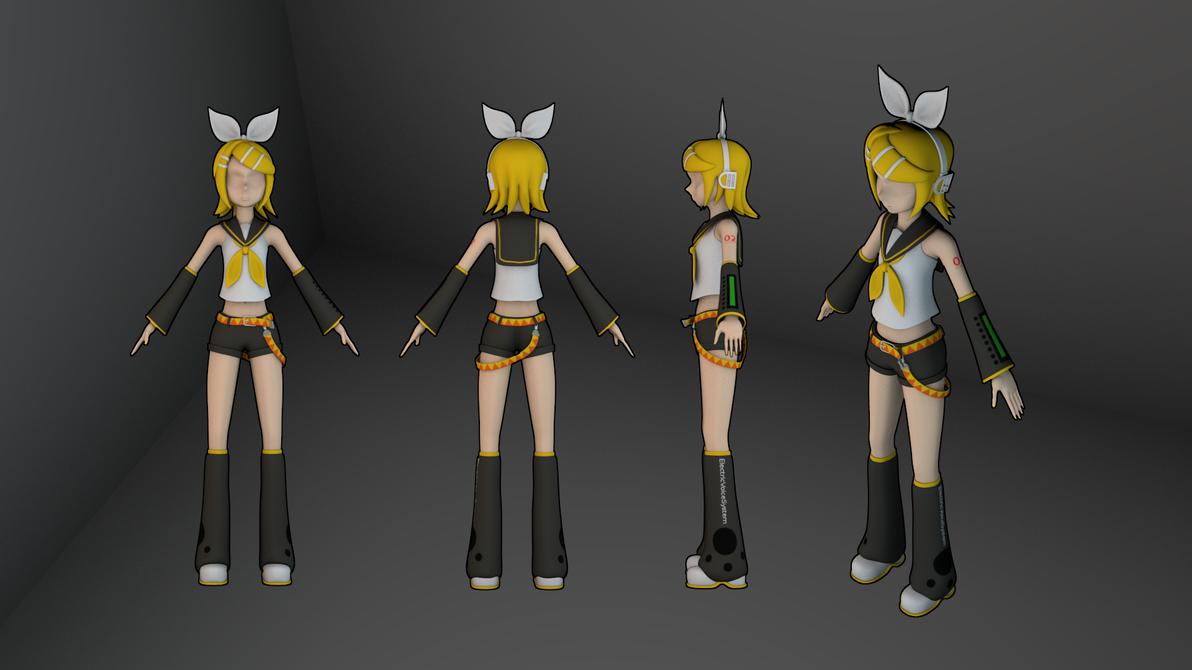 Rin model - textured by MrSide