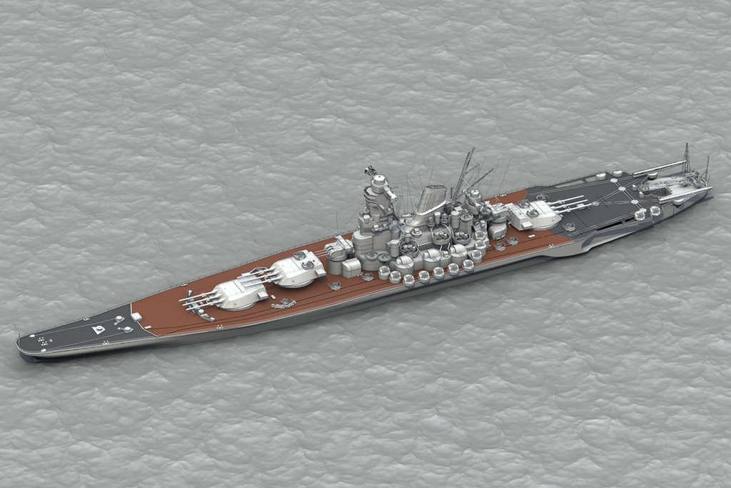 Battleship yamato by mrside on deviantart - Yamato render ...