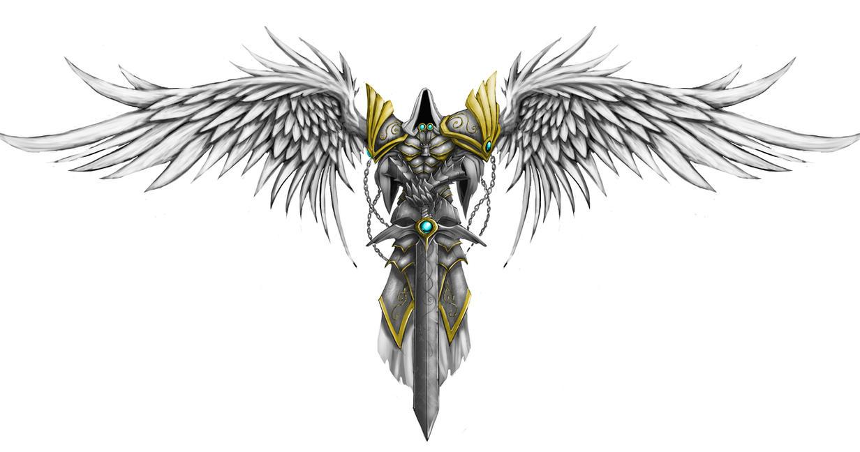 Angel Tattoo by ArtByElde on DeviantArt