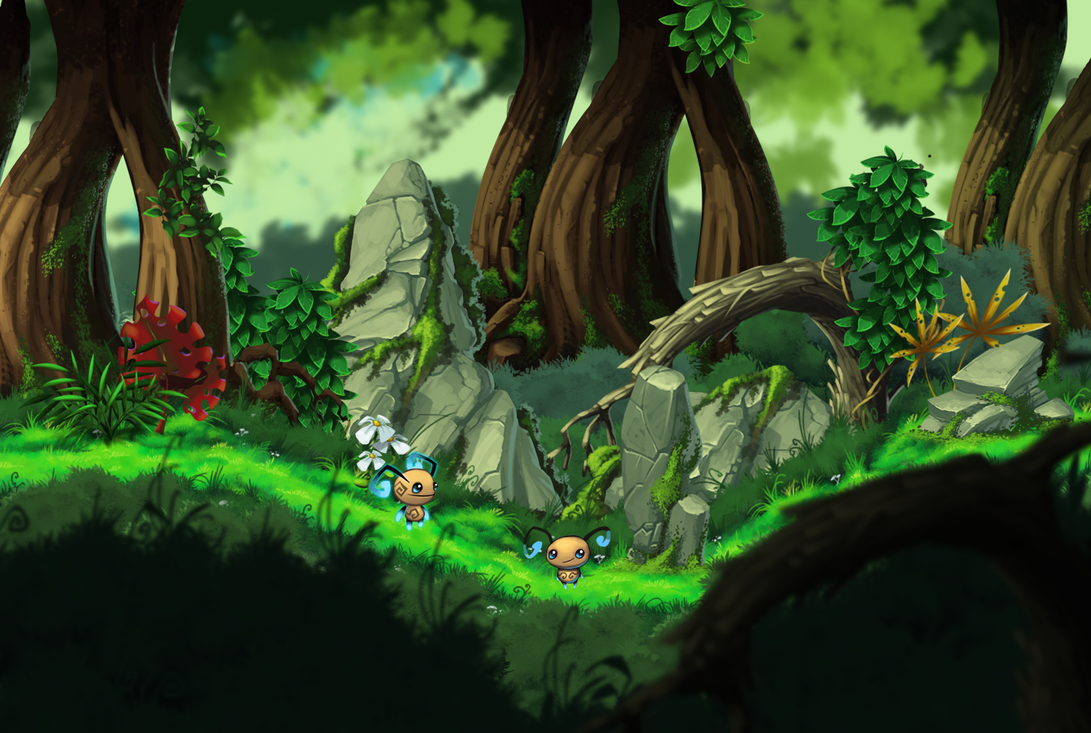 Hand Painted Forest Environment
