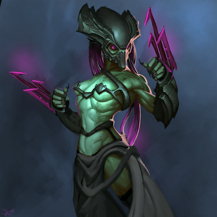 Female Assasin Predator by ArtByElde
