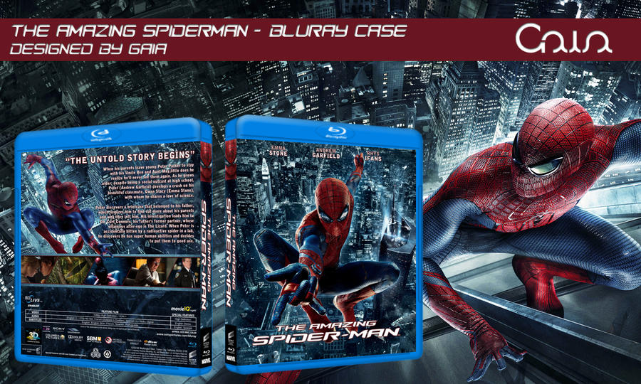 The Amazing Spiderman - Blu-Ray Art by Biohazard20