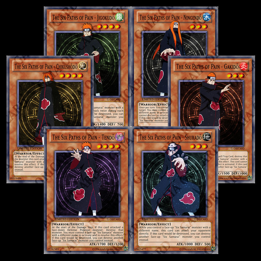 six paths of pain casual card design yugioh card maker