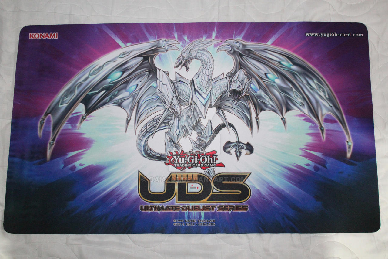 neo blue eyes ultimate dragon custom playmat by gaia206 on
