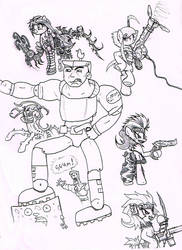 some drawings 327 Soldier ponies and Major Chip by ioncorupterx