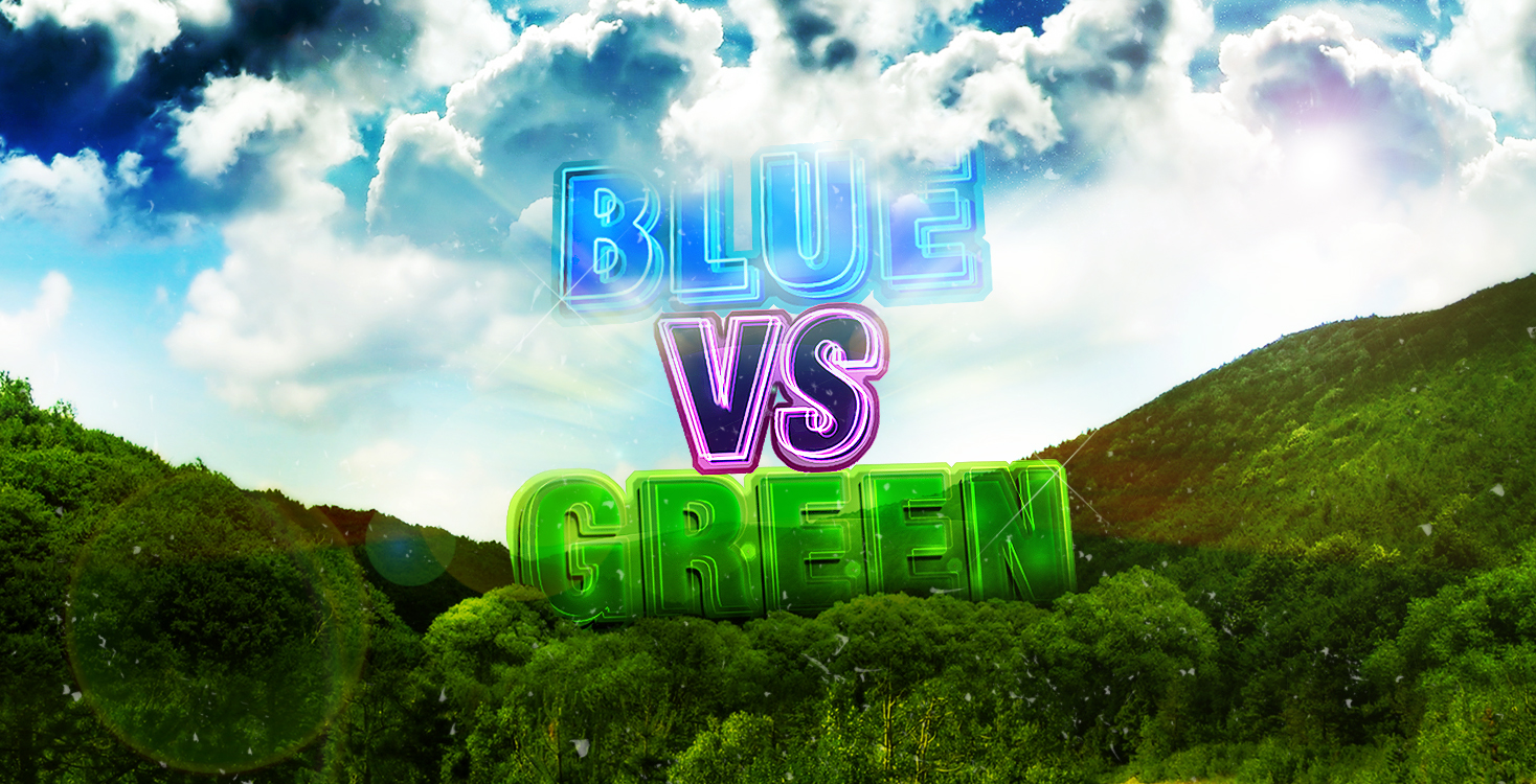 Green VS Blue
