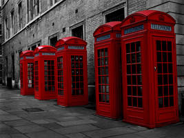 London in red by JennyLyd