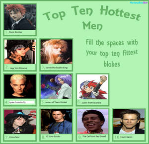 My Top Ten Hottest Men