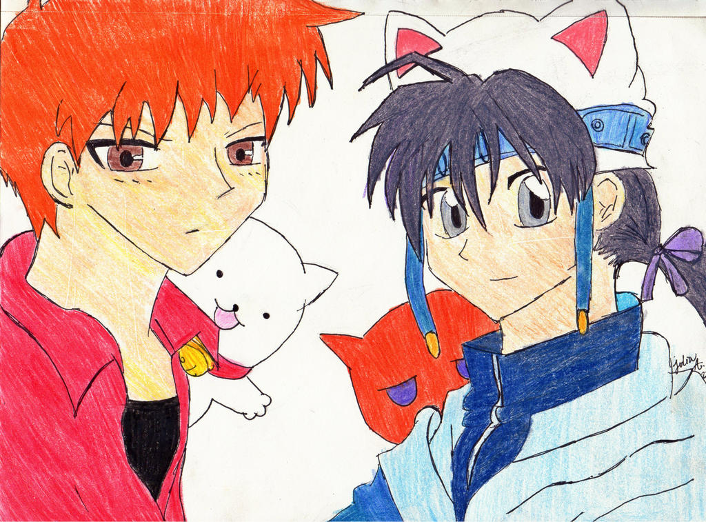 kyo and takuto the two cats by cookieznmilk12 on deviantart