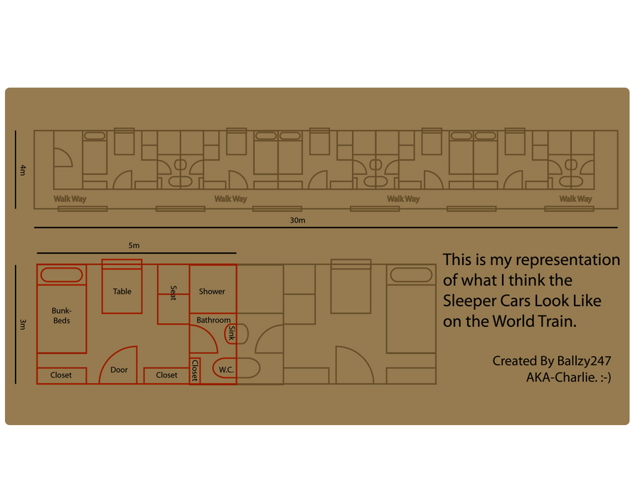 World Train Sleeper Car Floor Plan By Ballzy247 On DeviantArt