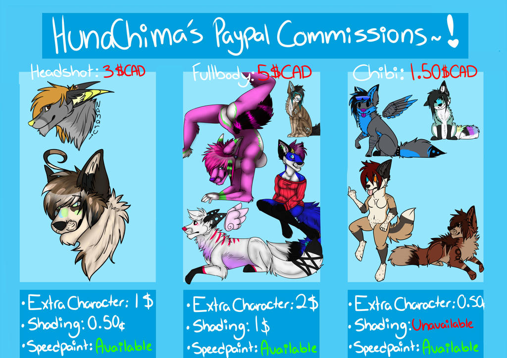 UPDATED Comission prices! by HunaChima