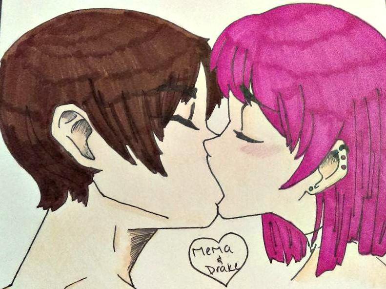 Drake and Mema Kiss by curry-no-go
