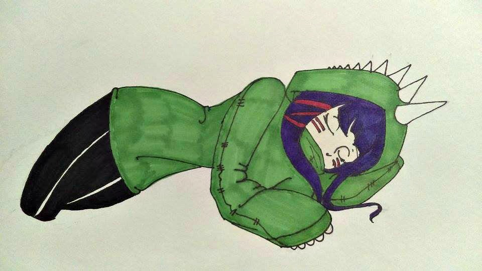 Sleeping Dino girl by curry-no-go