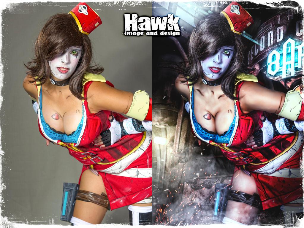 M. Moxxi Photoshoot comparison! by Larxenne
