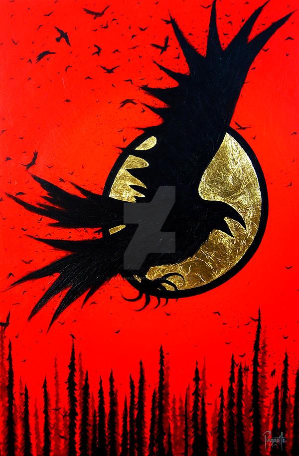 Raven Storm by AaronPaquette