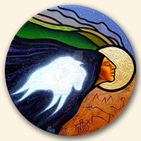White Buffalo Calf Woman by AaronPaquette