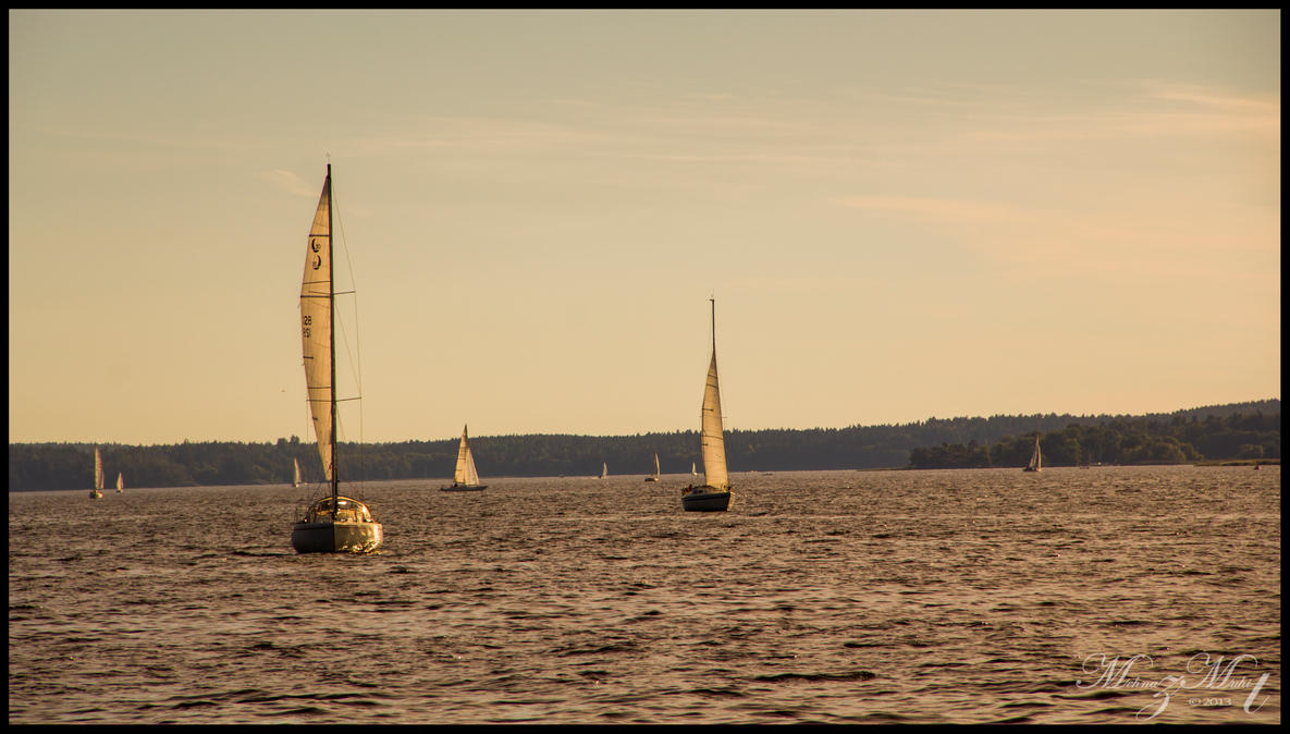 Late Summer Sailing by iMehnaz