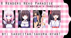 Pack de 8 Renders de Neko Paradise