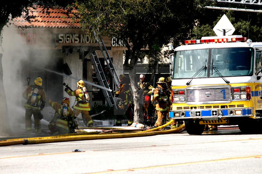 Fire on Thousand Oaks Blvd by mastersketcher on DeviantArt