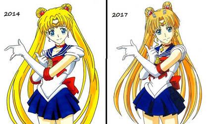 Sailor Moon -- Art-Style Change Comparison