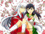 InuYasha and Kagome (4) by OneColoredLily