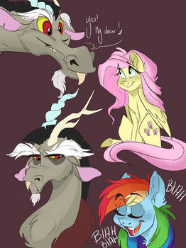 Discord and his little ponies