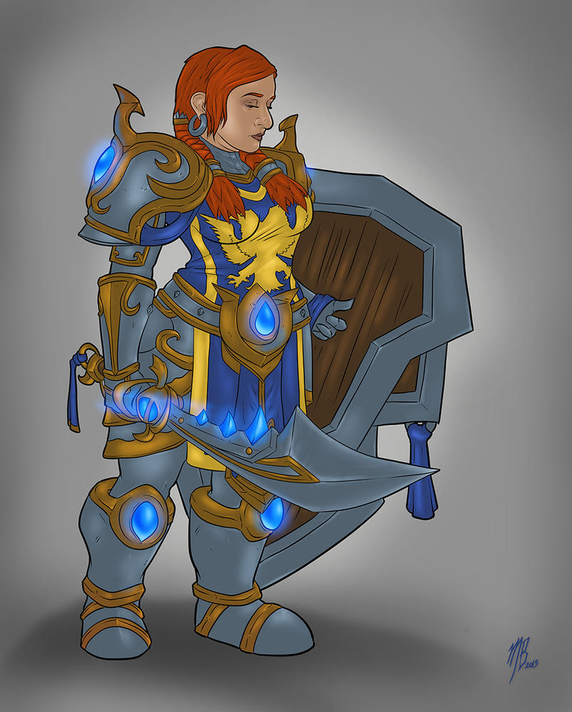Dwarf Warrior Gia FINAL by Karbacca