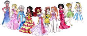 Disney Designer Heroines by sophiesmile