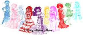 Disney designer Heroines-Colour by sophiesmile